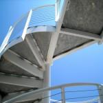 round metal stairs